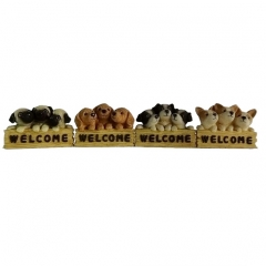 Three dogs Welcome Sign