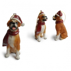 Boxer Christmas Tree Ornaments