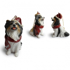 Papillon Christmas Tree Ornaments