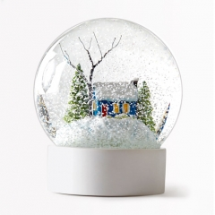 Virginia tech christmas snow globes
