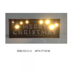 Merry Christmas iron Wall Decorations christmas Sign Plaque