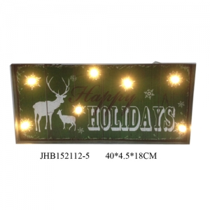 Happy Holidays iron Wall Decoration christmas Sign Plaque