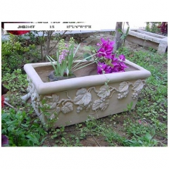 "15""L rectangle resin  garden planter"