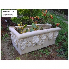 "21""L rectangle resin garden planter"